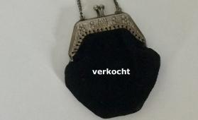 Buideltasje van zwart velours - mini